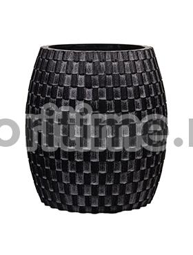 Кашпо Capi nature vase elegant wide ii wave black