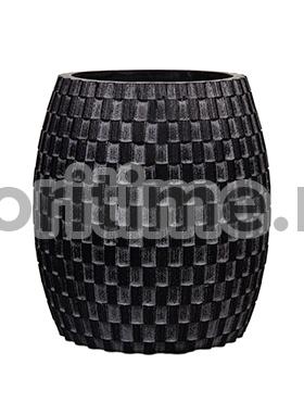 Кашпо Capi nature vase elegant wide i wave black