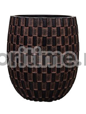 Кашпо Capi nature vase elegant high i wave brown