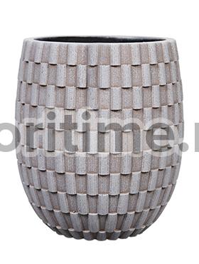 Кашпо Capi nature vase elegant high iii wave ivory