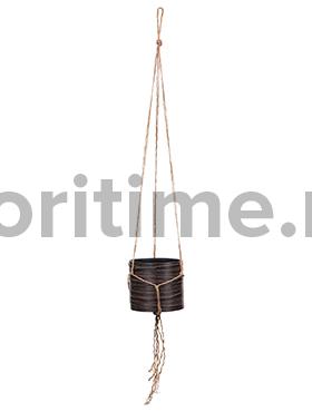 Кашпо Capi nature hanging vase cylinder iii loop brown