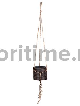 Кашпо Capi nature hanging vase cylinder ii loop brown