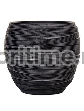 Кашпо Capi nature vase elegant i loop black