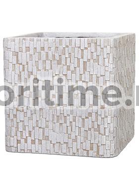 Кашпо Capi nature egg planter square stone i ivory