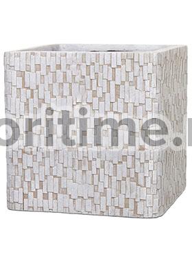Кашпо Capi nature egg planter square stone ii ivory