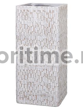 Кашпо Capi nature rectangle stone ivory