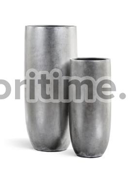 Кашпо Metal высокий округлый конус: серебро