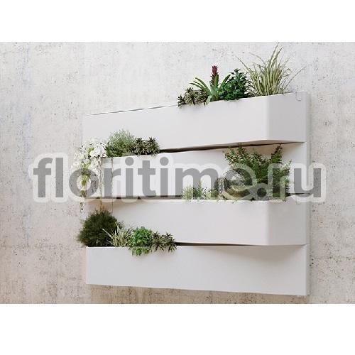 Luxury, Монако  композиционное кашпо, цвет белый