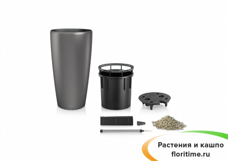 Кашпо Lechuza Rondo, кофейный металлик