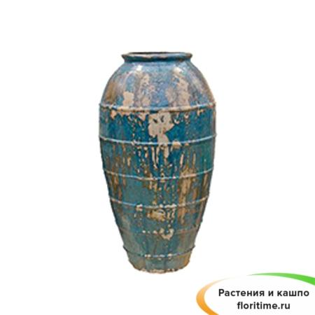 Кашпо Menhir, керамика, бирюзовый