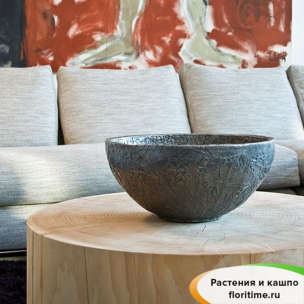 Кашпо CRACKLE Bowl, стекловолокно