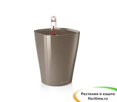 Кашпо Lechuza MINI-Deltini, серо-коричневый блестящий