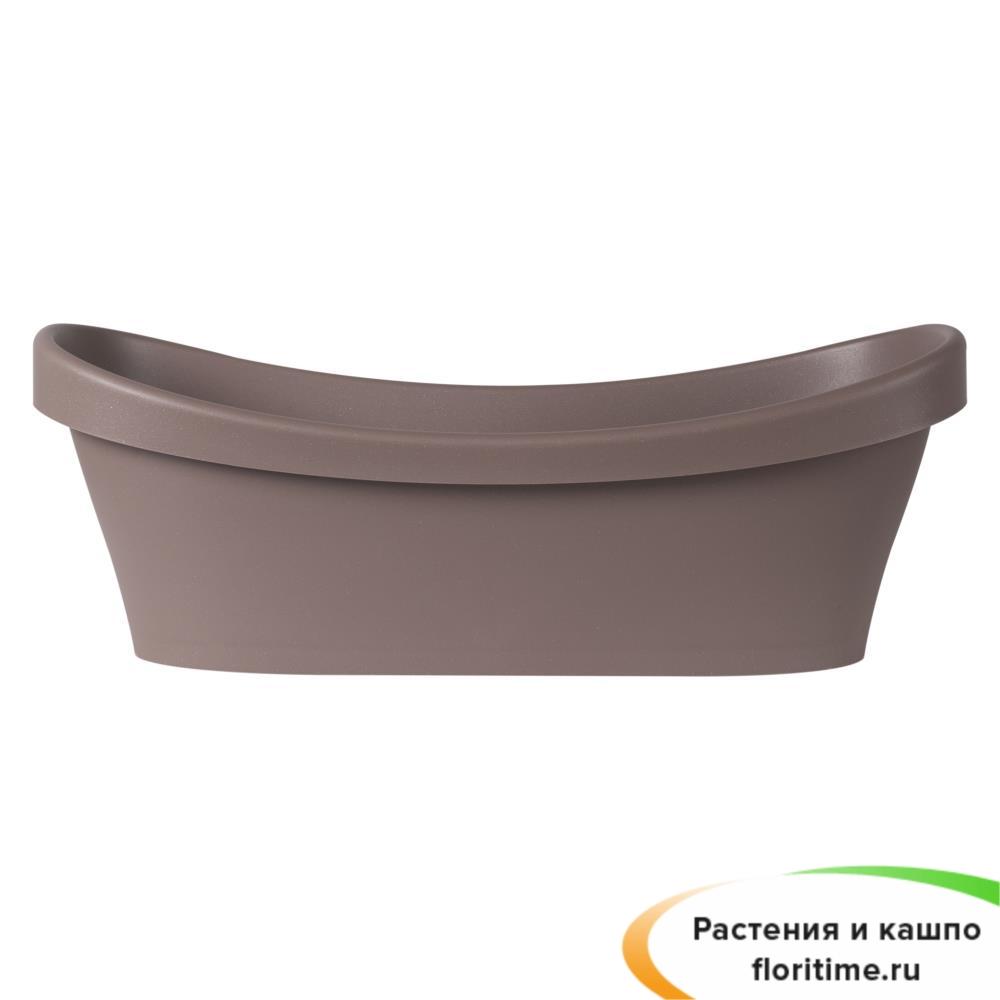Кашпо Scheurich, пластик, коричневый