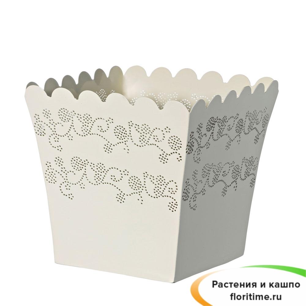 Горшок Deroma Lace quadro, white