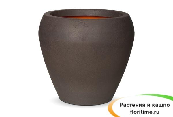 Кашпо Capi Tutch Vase Tapering Round, Brown