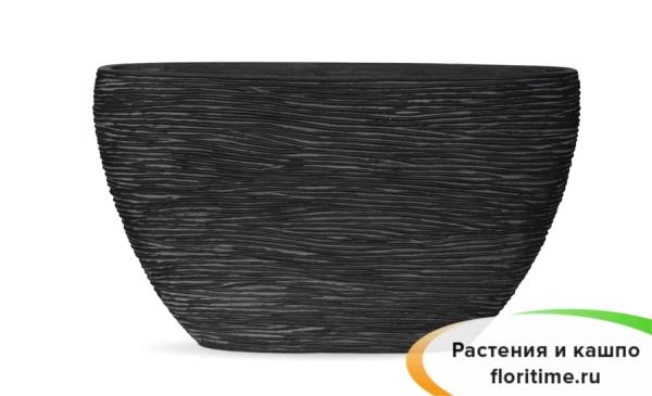 Кашпо Capi Nature Planter Oval, rib black