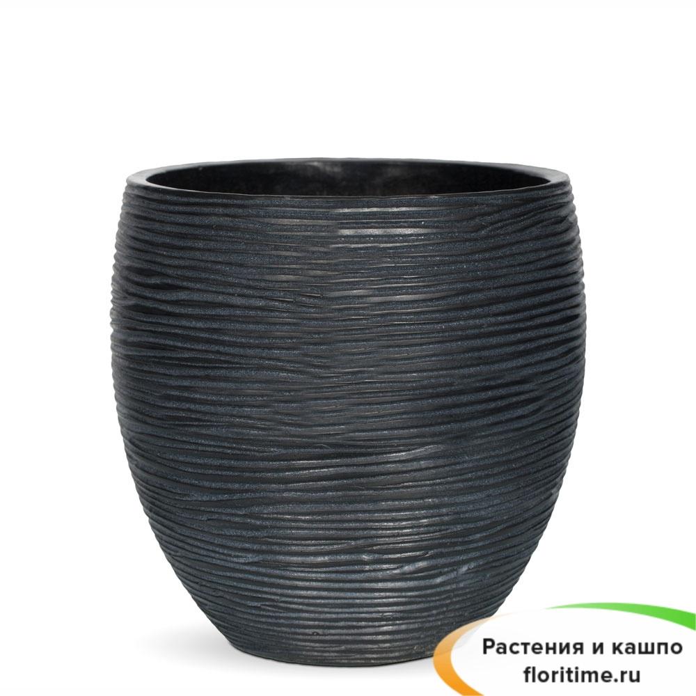 Кашпо Capi Nature Vase Elegant Mini, rib black