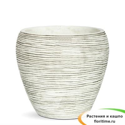 Кашпо Capi Nature Vase Tapered Round Mini Rib, Ivory
