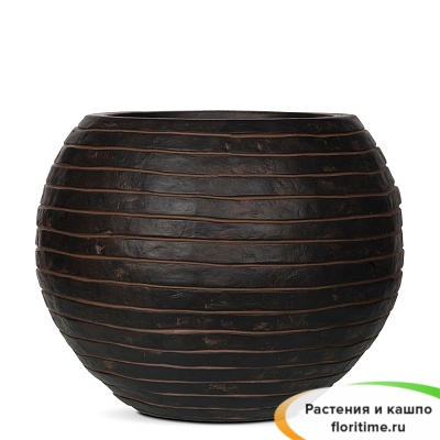Кашпо Capi Nature Vase Ball Row, brown