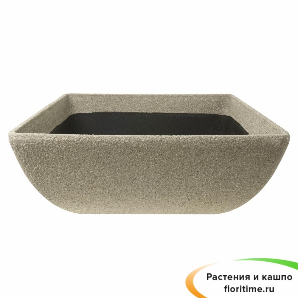 Кашпо Composite Conic Low Bowl, полистоун