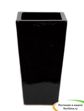 Кашпо Black shiny kubis