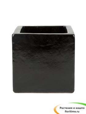 Кашпо Black shiny square