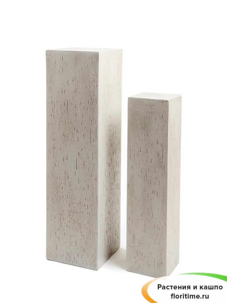 Кашпо Ergo Cork колонна, белый песок
