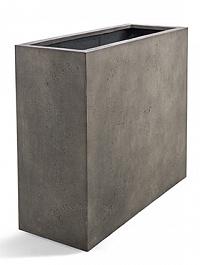 Кашпо D-lite high box low natural-concrete