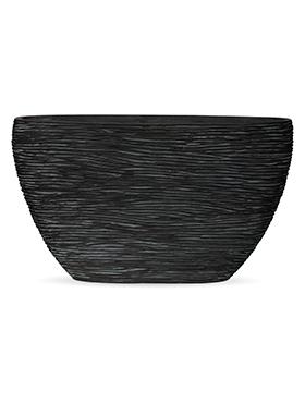 Кашпо Capi nature planter oval high rib black