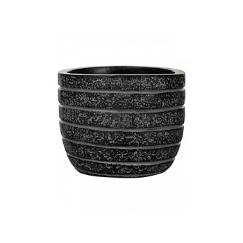 Кашпо Capi Nature row egg planter 2-й размер black, чёрный