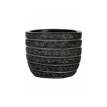 Кашпо Capi Nature row egg planter 3-й размер black, чёрный