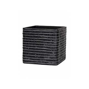 Кашпо Capi Nature row planter square 4-й размер black, чёрный