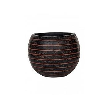 Кашпо Capi Nature row vase ball 2-й размер brown, коричневый
