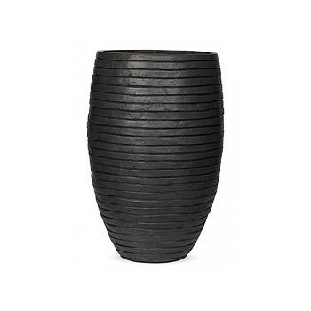 Кашпо Capi Nature row vase elegant deLuxe anthracite, антрацит