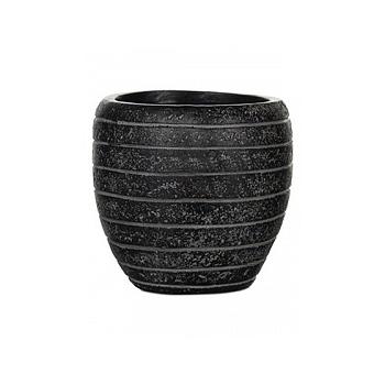 Кашпо Capi Nature row vase elegant 2-й размер black, чёрный