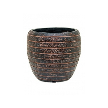 Кашпо Capi Nature row vase elegant 2-й размер brown, коричневый