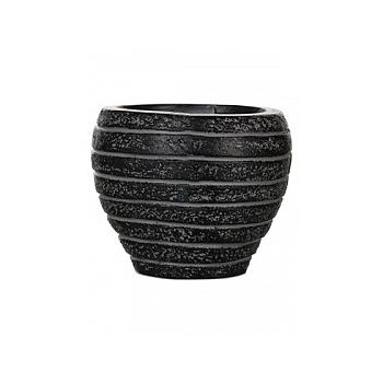 Кашпо Capi Nature row vase taper round 2-й размер black, чёрный