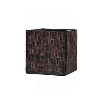 Кашпо Capi Nature stone planter square 2-й размер brown, коричневый