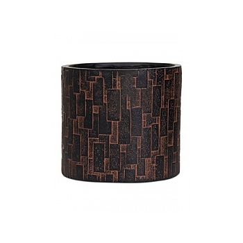 Кашпо Capi Nature stone vase cylinder 2-й размер brown, коричневый