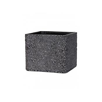 Кашпо Capi Nature wood planter square 2-й размер black, чёрный