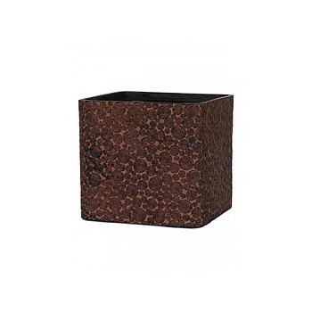 Кашпо Capi Nature wood planter square 4-й размер brown, коричневый