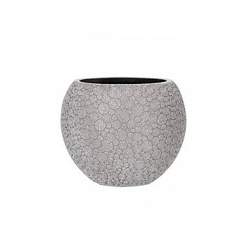 Кашпо Capi Nature wood vase ball 2-й размер ivory, слоновая кость