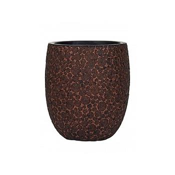 Кашпо Capi Nature wood vase elegant high 2-й размер brown, коричневый