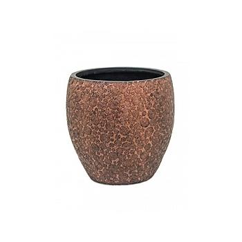 Кашпо Capi Nature wood vase elegant 3-й размер brown, коричневый