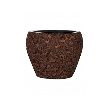Кашпо Capi Nature wood vase taper round 3-й размер brown, коричневый