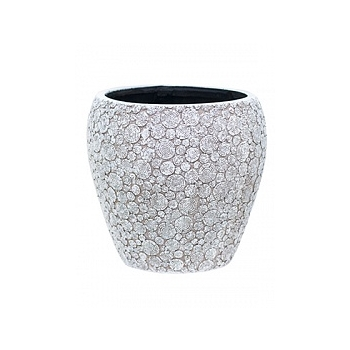 Кашпо Capi Nature wood vase taper round 3-й размер ivory, слоновая кость