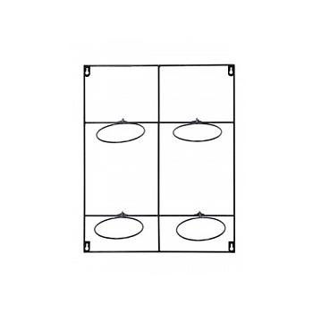 Держатель для Кашпо Artstone amy potrack black, чёрного цвета (4x hole for 13 cm) Длина — 39 см