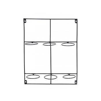 Держатель для Кашпо Artstone amy potrack black, чёрного цвета (6x hole for 10 cm) Длина — 39 см