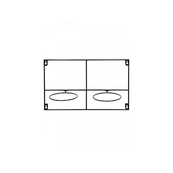Держатель для Кашпо Artstone amy potrack horiz black, чёрного цвета (2x hole for 13 cm) Длина — 39 см