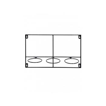 Держатель для Кашпо Artstone amy potrack horiz black, чёрного цвета (3x hole for 10 cm) Длина — 39 см